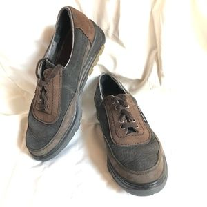 MEPHISTO Black Brown Leather AIR-JET Shoes ~sz 8